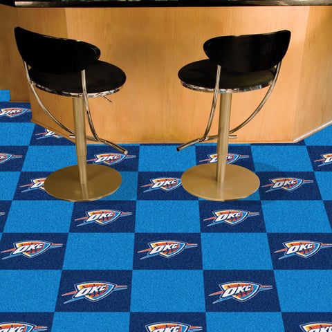 NBA Oklahoma City Thunder Carpet Tiles - Bed, Bath, And My Team