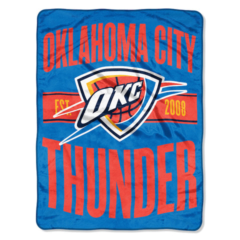 NBA Oklahoma City Thunder Micro Raschel Throw - Bed, Bath, And My Team