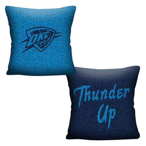 NBA Oklahoma City Thunder INVERT Throw Pillow - Bed, Bath, And My Team