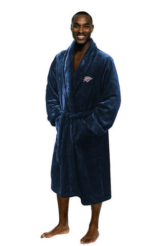 NBA Oklahoma City Thunder Silk Touch Mens Bath Robe - Bed, Bath, And My Team