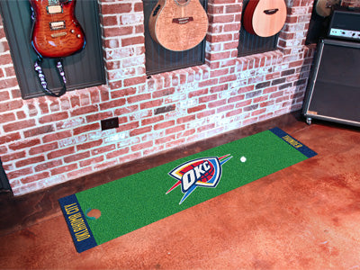 NBA Oklahoma City Thunder Putting Green Mat - Bed, Bath, And My Team