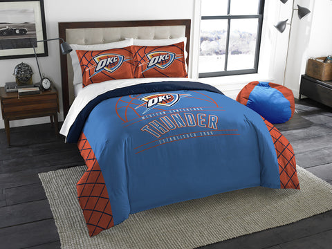 NBA Oklahoma City Thunder Queen/Full Comforter and Sham Set - Bed, Bath, And My Team