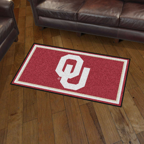 NCAA Oklahoma Sooners 3 X 5 Ft. Plush Area Rug - Bed, Bath, And My Team