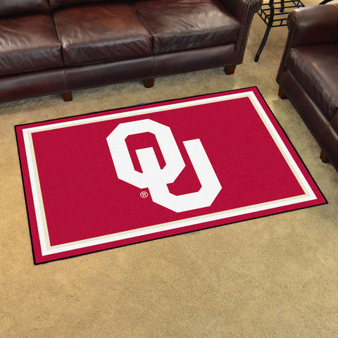 NCAA Oklahoma Sooners 4 X 6 Ft. Area Rug - Bed, Bath, And My Team