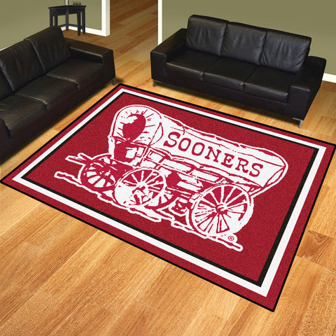 NCAA Oklahoma Sooners ALT LOGO 8 X 10 Ft. Area Rug - Bed, Bath, And My Team