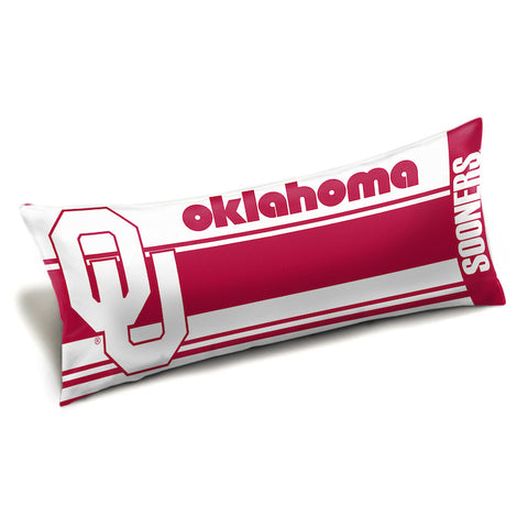 NCAA Oklahoma Sooners King Size Body Pillow - Bed, Bath, And My Team