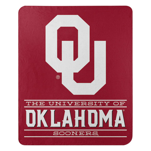 NCAA Oklahoma Sooners Fleece Throw ~ 50 x 60 - Bed, Bath, And My Team