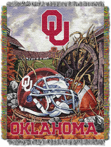 NCAA Oklahoma Sooners HOME FIELD ADVANTAGE Tapestry - Bed, Bath, And My Team