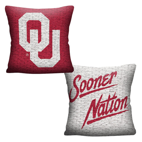 NCAA Oklahoma Sooners INVERT Throw Pillow - Bed, Bath, And My Team