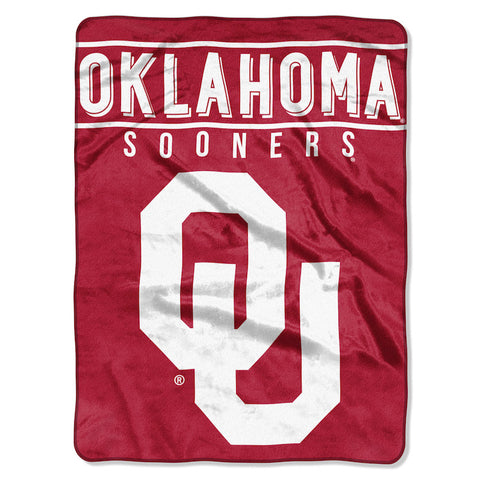 NCAA Oklahoma Sooners 60 x 80 Large Plush Raschel Throw Blanket - Bed, Bath, And My Team