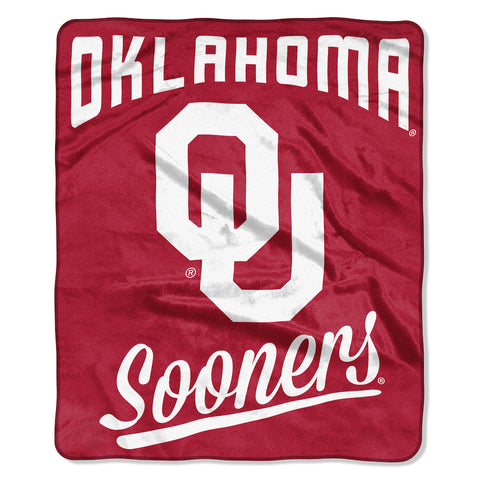NCAA Oklahoma Sooners 50 x 60 Alumni Raschel Throw Blanket - Bed, Bath, And My Team