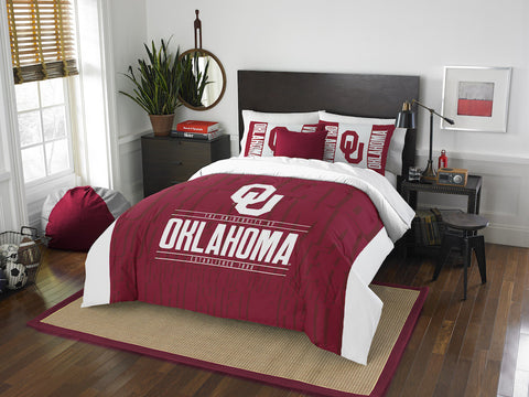 NCAA Oklahoma Sooners Queen/Full Comforter and Sham Set - Bed, Bath, And My Team