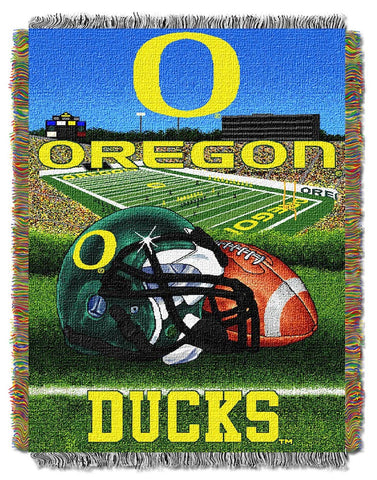 NCAA Oregon Ducks HOME FIELD ADVANTAGE Tapestry - Bed, Bath, And My Team