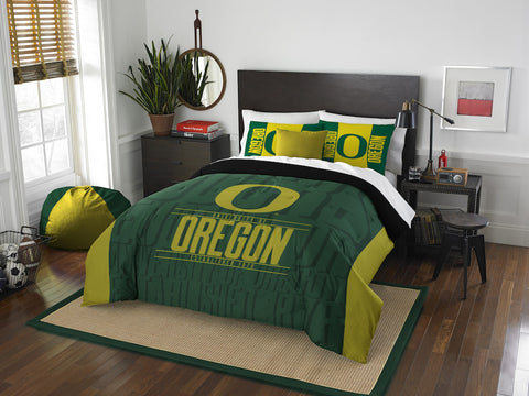 NCAA Oregon Ducks Queen/Full Comforter and Sham Set - Bed, Bath, And My Team