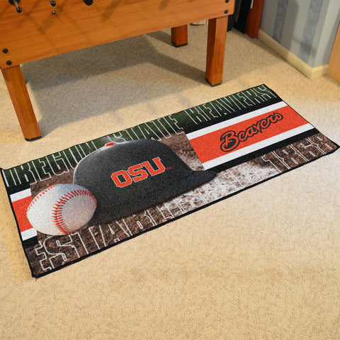 NCAA Oregon State Beavers Baseball Logo Carpet Runner Rug - Bed, Bath, And My Team
