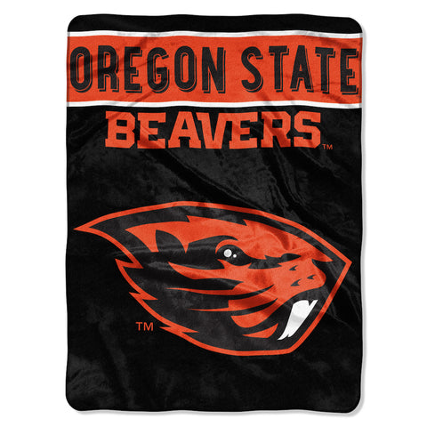 NCAA Oregon State Beavers 60 x 80 Large Plush Raschel Throw Blanket - Bed, Bath, And My Team