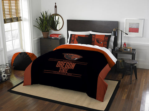 Oregon State Beavers queen/full comforter and 2 shams