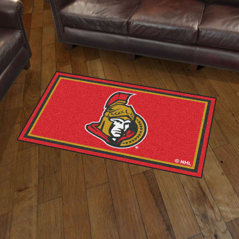 NHL Ottawa Senators 3 X 5 Ft. Plush Area Rug - Bed, Bath, And My Team