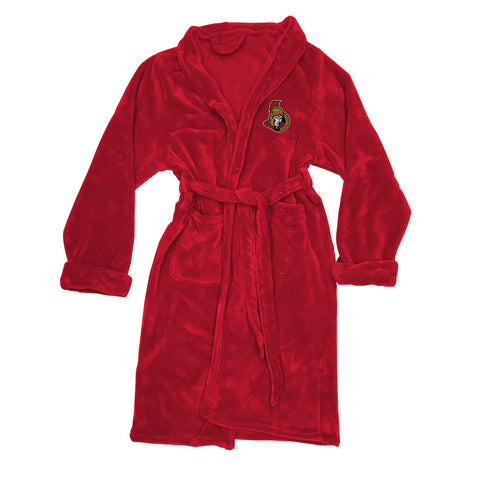 NHL Ottawa Senators Silk Touch Mens Bath Robe (LG/XL) - Bed, Bath, And My Team