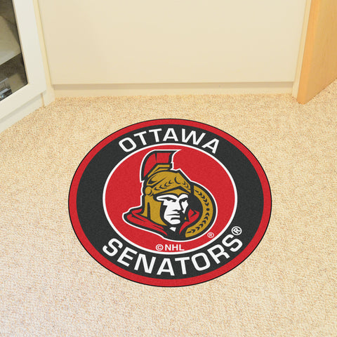 NHL Ottawa Senators Roundel Mat - Bed, Bath, And My Team