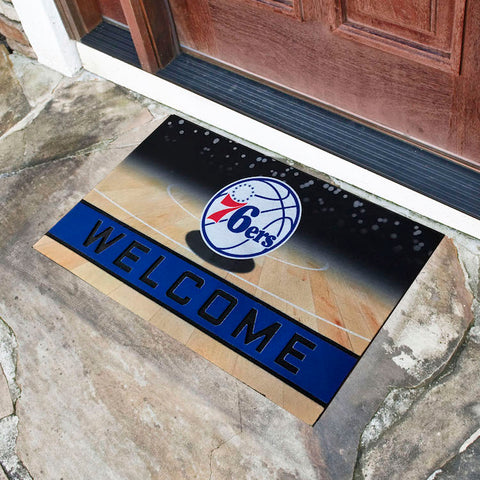 NBA Philadelphia 76ers Recycled Rubber CRUMB Doormat - Bed, Bath, And My Team