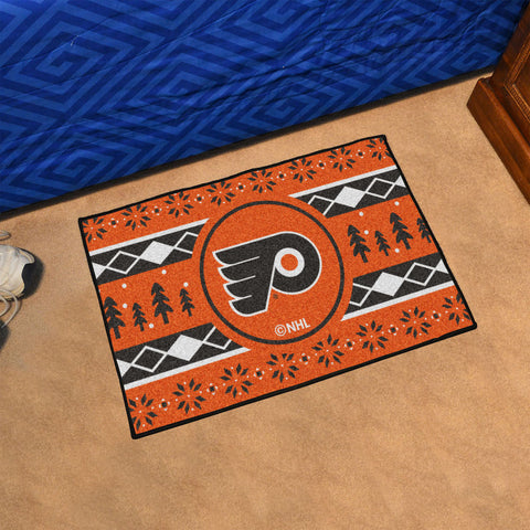 NHL Philadelphia Flyers CHRISTMAS SWEATER Starter Rug - Bed, Bath, And My Team