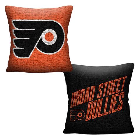 NHL Philadelphia Flyers INVERT Throw Pillow - Bed, Bath, And My Team