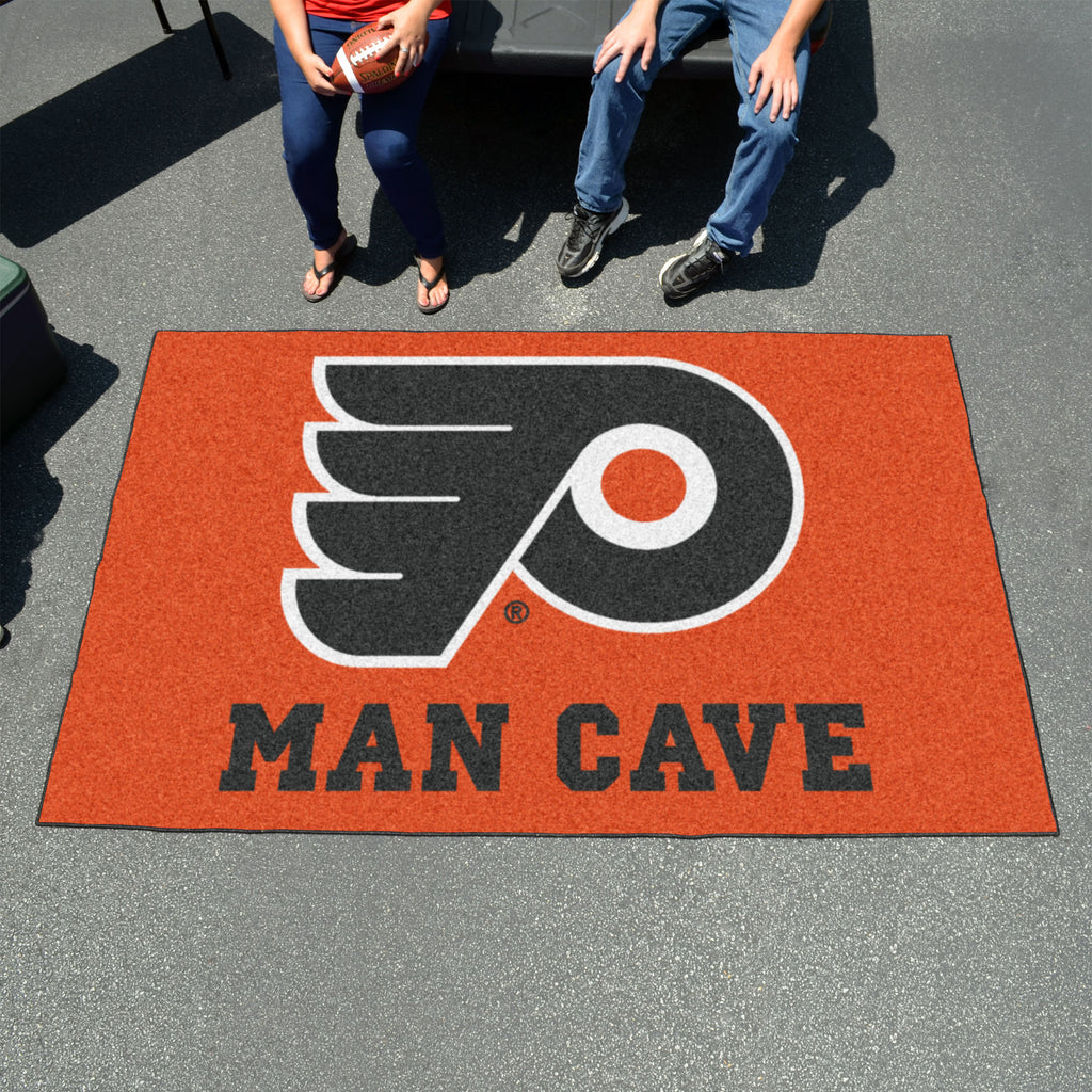 Buy Nhl Philadelphia Flyers Man Cave Utili Mat Area Rug