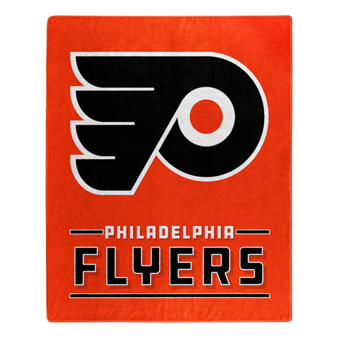 NHL Philadelphia Flyers 50 x 60 Jersey Raschel Throw Blanket - Bed, Bath, And My Team
