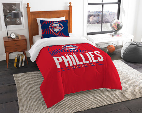 Philadelphia Phillies twin comforter and pillow sham