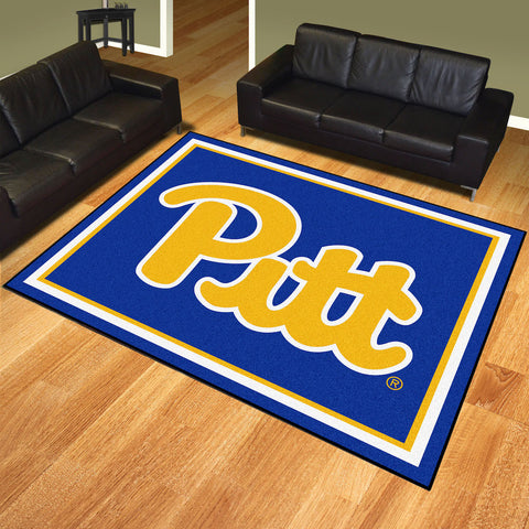 Pittsburgh Panthers 8 x 10 area rug