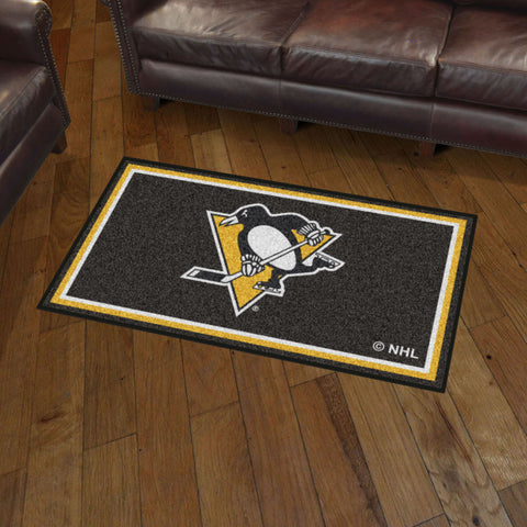 NHL Pittsburgh Penguins 3 X 5 Ft. Plush Area Rug - Bed, Bath, And My Team
