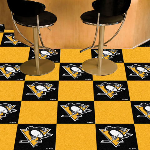 NHL Pittsburgh Penguins Carpet Tiles - Bed, Bath, And My Team