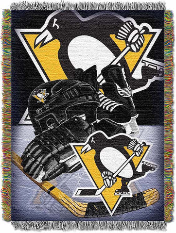 NHL Pittsburgh Penguins HOME ICE ADVANTAGE Tapestry - Bed, Bath, And My Team