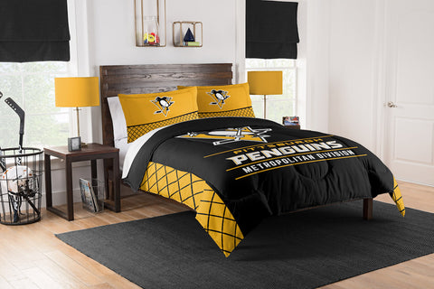 NHL Pittsburgh Penguins KING Comforter and Sham Set - Bed, Bath, And My Team