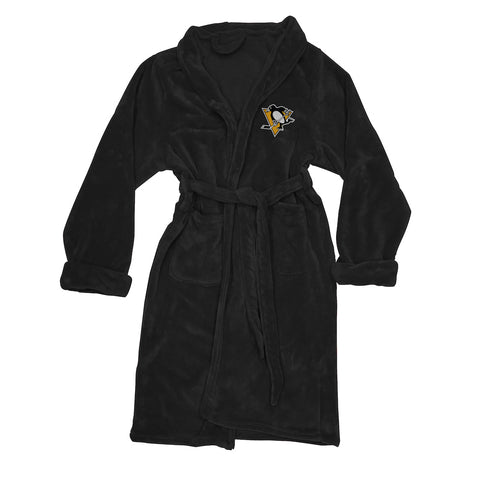 NHL Pittsburgh Penguins Silk Touch Mens Bath Robe (LG/XL) - Bed, Bath, And My Team