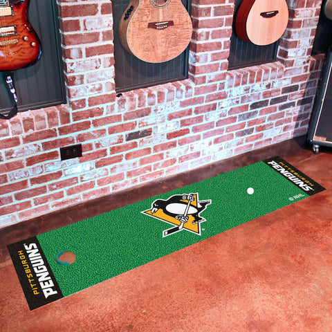 NHL Pittsburgh Penguins Putting Green Mat - Bed, Bath, And My Team