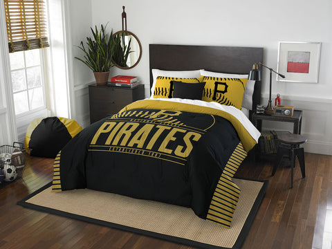 Pittsburgh Pirates queen/full comforter and 2 shams