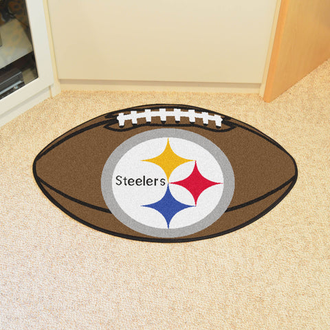 NFL Pittsburgh Steelers Football Mat - Bed, Bath, And My Team