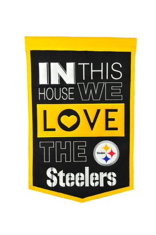 NFL Pittsburgh Steelers HOME Hanging Wool Banner - Bed, Bath, And My Team