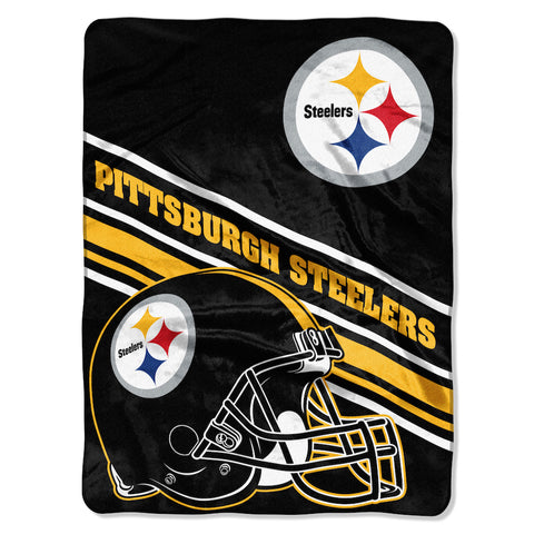 NFL Pittsburgh Steelers 60 x 80 Large Plush Raschel Throw Blanket - Bed, Bath, And My Team
