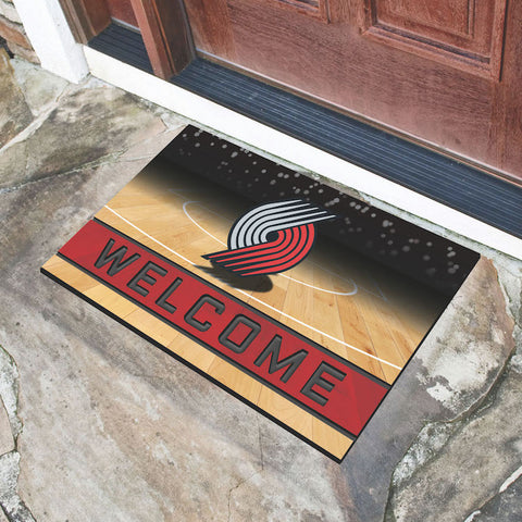 NBA Portland Trail Blazers Recycled Rubber CRUMB Doormat - Bed, Bath, And My Team
