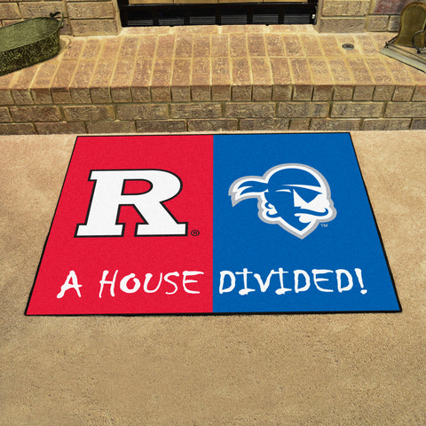 Rutgers Scarlet Knights Seton Hall Pirates Rivalry Rug