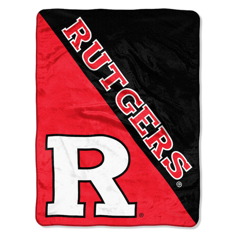 Rutgers Scarlet Knights Micro Raschel Throw