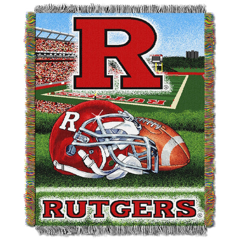 Rutgers Scarlet Knights Home Field Advantage Tapestry