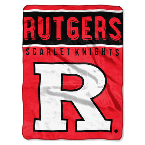 Rutgers Scarlet Knights large plush blanket