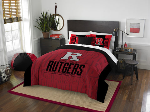 Rutgers Scarlet Knights queen/full comforter and 2 shams