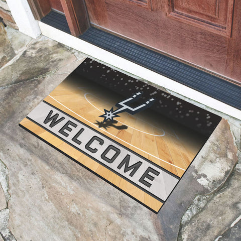 NBA San Antonio Spurs Recycled Rubber CRUMB Doormat - Bed, Bath, And My Team