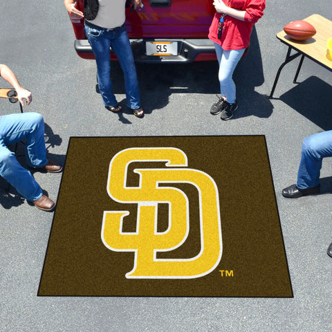 MLB San Diego Padres ALT LOGO TAILGATER Mat - Bed, Bath, And My Team