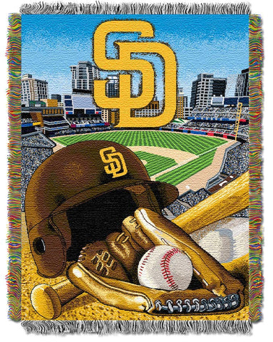 MLB San Diego Padres HOME FIELD ADVANTAGE Tapestry - Bed, Bath, And My Team